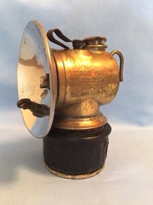 JUSTRITE Miners Carbide Cap Lamp w/ PROTECTO GRIP Base, c. 100 yrs old, mining