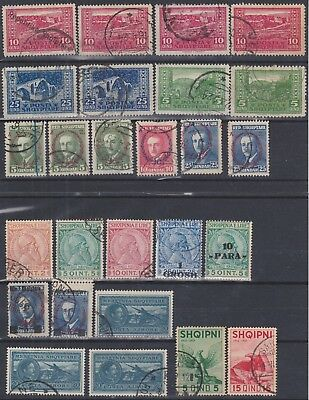 663) Albania - Shqiperise 1920 / 1937   Used Selection -  Very Nice / Perfect