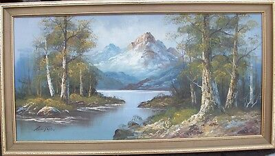 Large Original Oil Painting On  Canvas Signed By American Artist G. Whitman