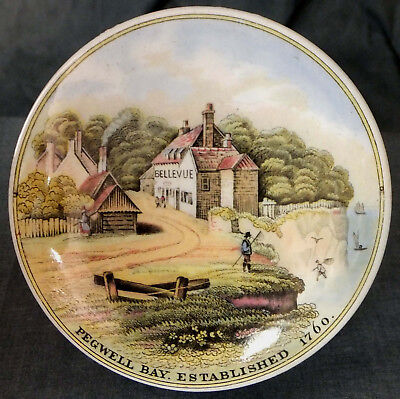 "LOVELY MID 19th. CENTURY PRATTWARE POT LID "" PEGWELL BAY "" # 25"