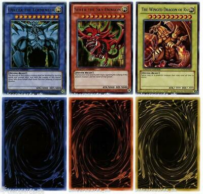Obelisk The Tormentor, Slifer The Sky Dragon and The Winged Dragon Of Ra Set