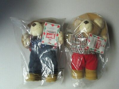 Lot of 2 Vintage 1986 FURSKINS Bears from Wendy's