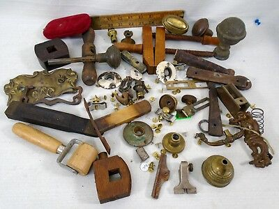 Contents of Junk Drawer Antique Store Tools Clamp Plane Parts Hardware Steampunk
