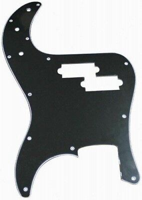 Retro Parts RP106B - Three Ply Black Pickguard for Precision Style Bass Guitar