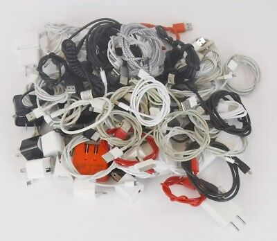 lot of 48 Cell Phone Charger & 20 Cellphone Wall Plugs