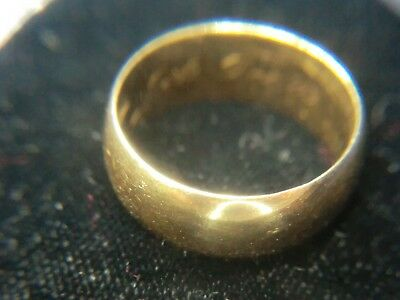 18K Solid Gold Ring 9.1 Grams Sz 10+ 8mm Wide for Wear Scrap Resell Free S/H