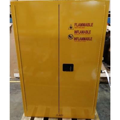 """CONDOR 42X501A 65"""" x 43"""" YELLOW STEEL FLAMMABLE SAFETY CABINET 45 GALLON/190664"""