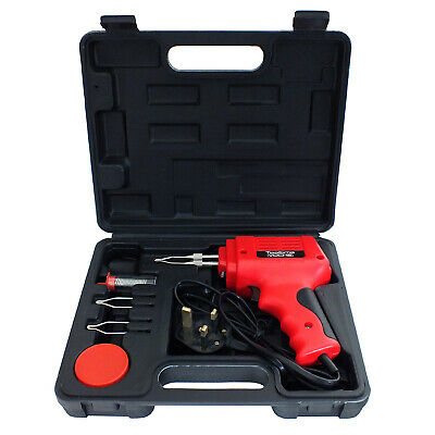 Voche® 175W Electric Soldering Gun Iron Kit + 3 Tips + Case + Solder Wire 230V