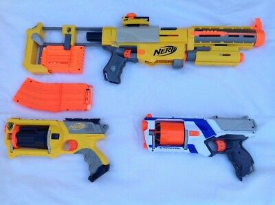 Nerf Bundle Recon CS-6 Laser & Flip Sights + Extra Mag, Strongarm, Maverick
