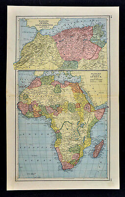 1885 Watson Map - Africa - Guinea Madagascar Morocco Cape Colony South Sahara