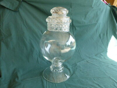 Large Mascotte Early American Pattern Glass Apothecary Jar