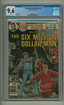 Six Million Dollar Man #2 (CGC 9.6) White pages; Neal Adams cover; 1976 (c#19625