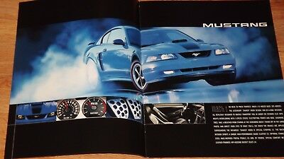 "2003 ""ORIGINAL"" FORD MUSTANG & THUNDERBIRD DEALERSHIP SALES BROCHURE w GT"
