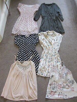 Mixed dress and top bundle of women's size S/M clothes (6 items) by Biba, Zara..