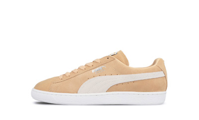 c3adede0b41 New Puma Mens Classic Suede Tonal   White Lace Up Sneaker Comfort Shoes  Size 9.5