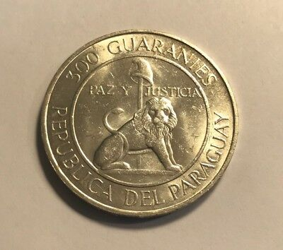 PARAGUAY - 300 Guaranies 1968 - Stroessner - Large Uncirculated Silver Coin