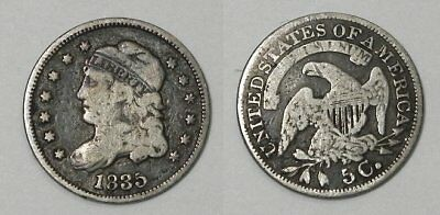 X755  1835 Capped Bust Half Dime H10C, Large Date