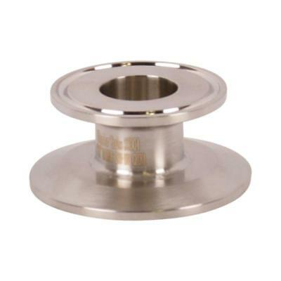 End Cap Reducer   Tri Clamp/Clover 2 inch x 1 - Sanitary SS304 (3 Pack)