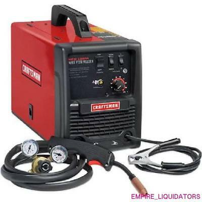 USED Craftsman Portable 115V Gas & Gasless Wire Feed Welder MODEL MIG 135m