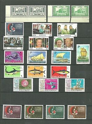 Maldive Islands Early Collection Of Various Sets & Selection Mint Lh/vf