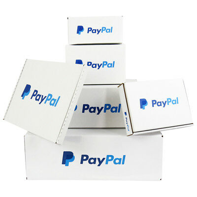 Quality Paypal Branded White Postal Mailing Shipping Boxes *100% Recycled*