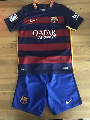Barcelona football Kit Kids size 10-12 years Superb Condition