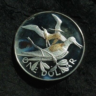 British Virgin Islands Dollar Silver Proof, 1983, Rare 487 Minted!