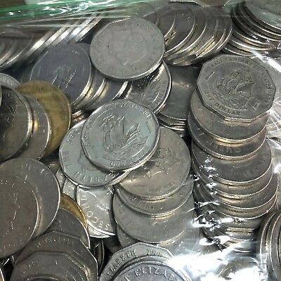 $264 East Caribbean Dollar, Lot of 264 x $1 XCD coins current travel cash