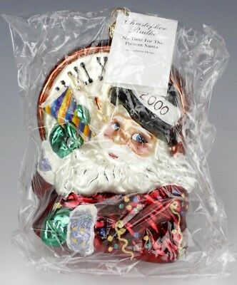 Christopher Radko No Time Like The Present Santa Claus Christmas Ornament RCR NR