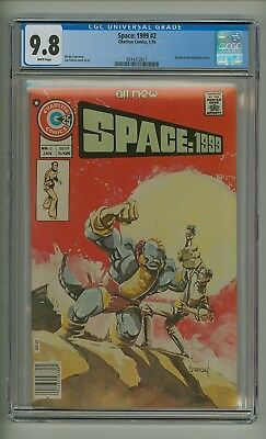 Space: 1999 #2 (CGC 9.8) White pages; Staton cover/art; Charlton; 1976 (c#19005)