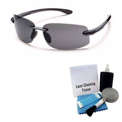 ced7dbc111 Suncloud Excursion Polarized Sunglass  Black  Gray Polycarbonate + Cleaning  Kit
