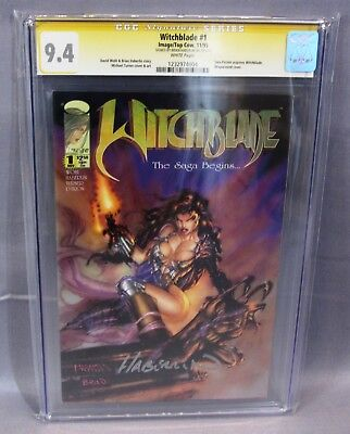 WITCHBLADE #1 (Signed by Brian Haberlin) CGC 9.4 Image 1995 Michael Turner art