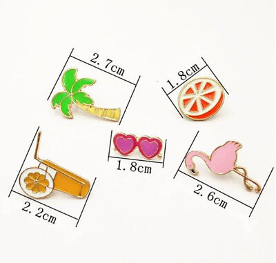 1PC personality animal fruit pattern alloy brooch clothes bag jewelry accessorie