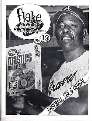 Flake Magazine # 13 1993 Cereal Box Collecting Fanzine Sports Mlb Nba Babe Ruth