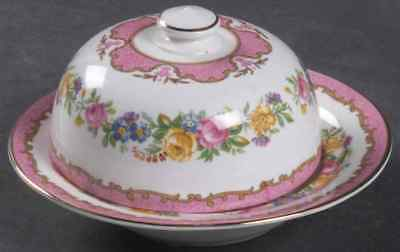 Crown Staffordshire LYRIC TUNIS Mini Round Covered Butter Dish 95362