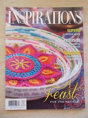 Inspirations #83~Embroidery Projects~Sunflower~12 Owls~Crocus~Hummingbird~Cover