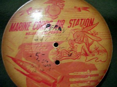 Very Rare Perry Como Paper Recorded Record From Marine Corps Air Station 40's