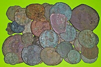 COLLECTION of 36 Ancient GREEK ROMAN & BYZANTINE COINS 400 BC-1000 AD old lot ae