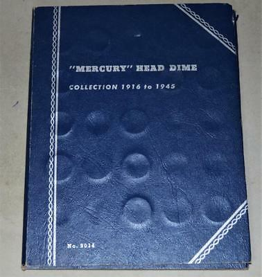 Mercury Dime Lot of 22 Silver Coins in a Whitman Album