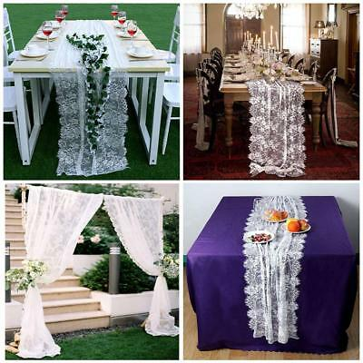 Lace Table Runner Tablecloth Chair Sash Hotel Home Wedding Party Banquet Decor