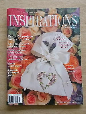 Inspirations #19~Embroidery Projects~Blanket~Runner~Flowergirl~Coathanger~Outfit