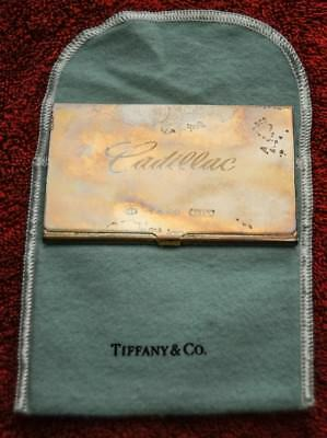 Tiffany & Co 925 Sterling 1999 Business Card Case Engraved  From Cadillac Dealer