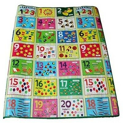 Numbers Playmat, Colourful Floor Mat 120 x 100cm