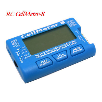 RC CellMeter 8 Digital Battery Capacity Voltage Checker Meter LiPo Li lon NiMH