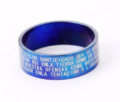 cool style  jewelry stainless steel solid bible cool blue  rings  size10