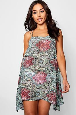 c7f0a94f2fdeb BOOHOO WOMENS MELISSA Animal Print Swing Beach Dress - $24.00 | PicClick