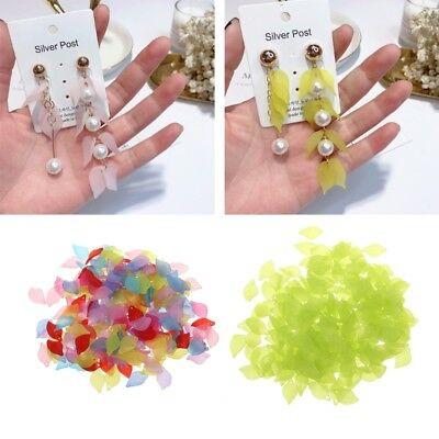 Green Leaves Beads Acrylic Transparent DIY Beads For Jewelry Making DIY Crafts