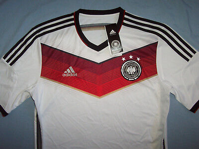 Germany 2014 Football Soccer White Jersey Shirt Mens Sz Large L world cup german