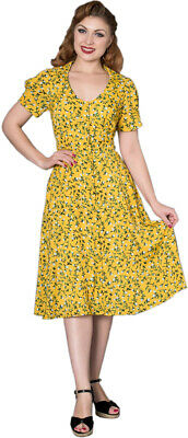 Sheen PEHNELOPE Vintage Floral FLOWER Blumen Retro SWING Dress Kleid Rockabilly