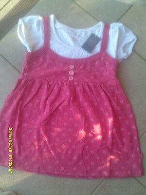 """New Girls """"pumpkin Patch"""" Double Layer Mock Puff Stretch Top  Size  11"""